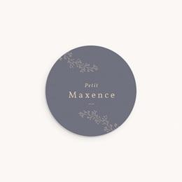 Sticker Enveloppe Naissance Couronne florale bleu vintage, sticker