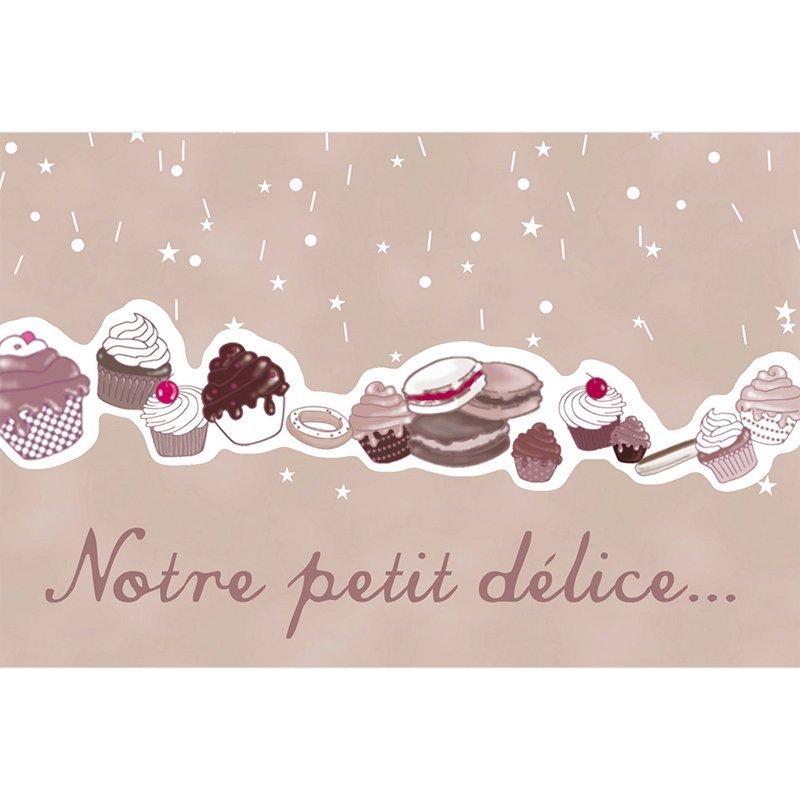 Faire-part de Naissance Cupcakes pas cher