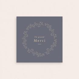 Carte de Remerciement Naissance Couronne Bleu Vintage, 9,5 x 9,5 cm