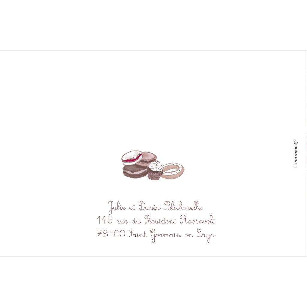 Faire-part de Naissance Cupcakes gratuit