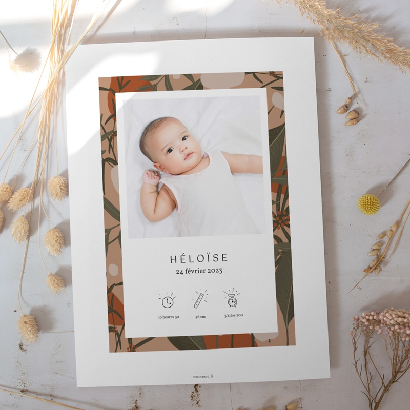 Affiche Déco Chambre Enfant Tendresse Tropicale, 2 photos gratuit