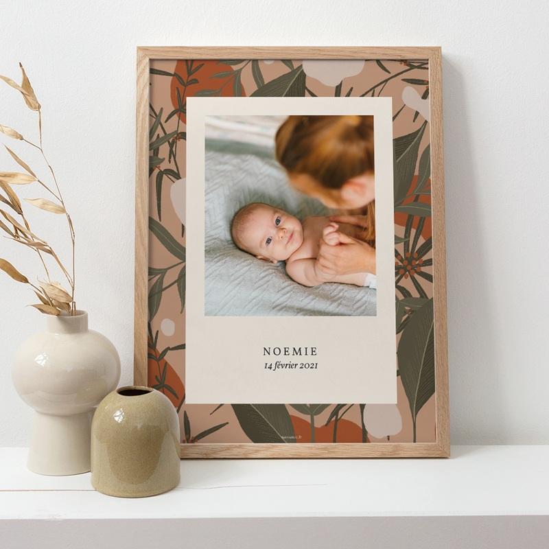 Affiche Déco Chambre Enfant Portrait d'une aventurière, Jungle pas cher