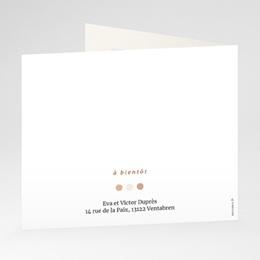 Carte de Remerciement Naissance Mobile Oie, pli décalé gratuit