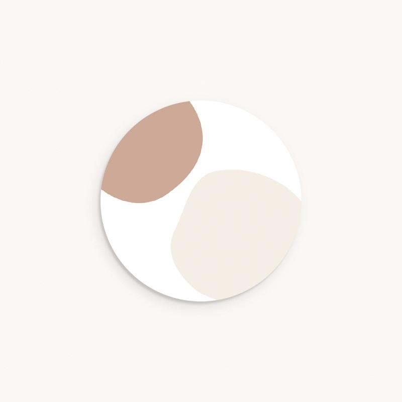 Sticker Enveloppe Naissance Mobile oies, tons naturels, 4,5 cm