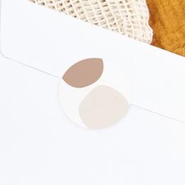 Sticker Enveloppe Naissance Mobile oies, tons naturels, 4,5 cm gratuit