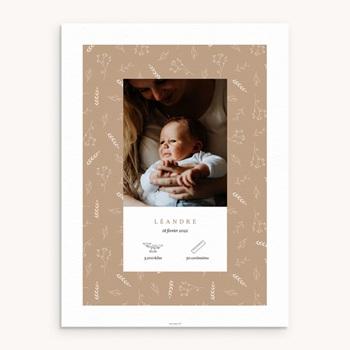 Affiche Déco Chambre Enfant Champêtre Sable, pictos & photo pas cher