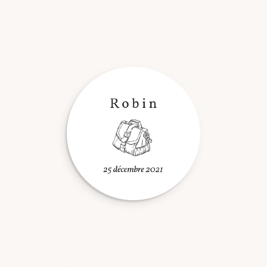 Sticker Enveloppe Naissance L'exploration du Petit Prince, sticker
