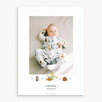 Affiche Déco Chambre Enfant Voyage Petit Prince & Renard pas cher