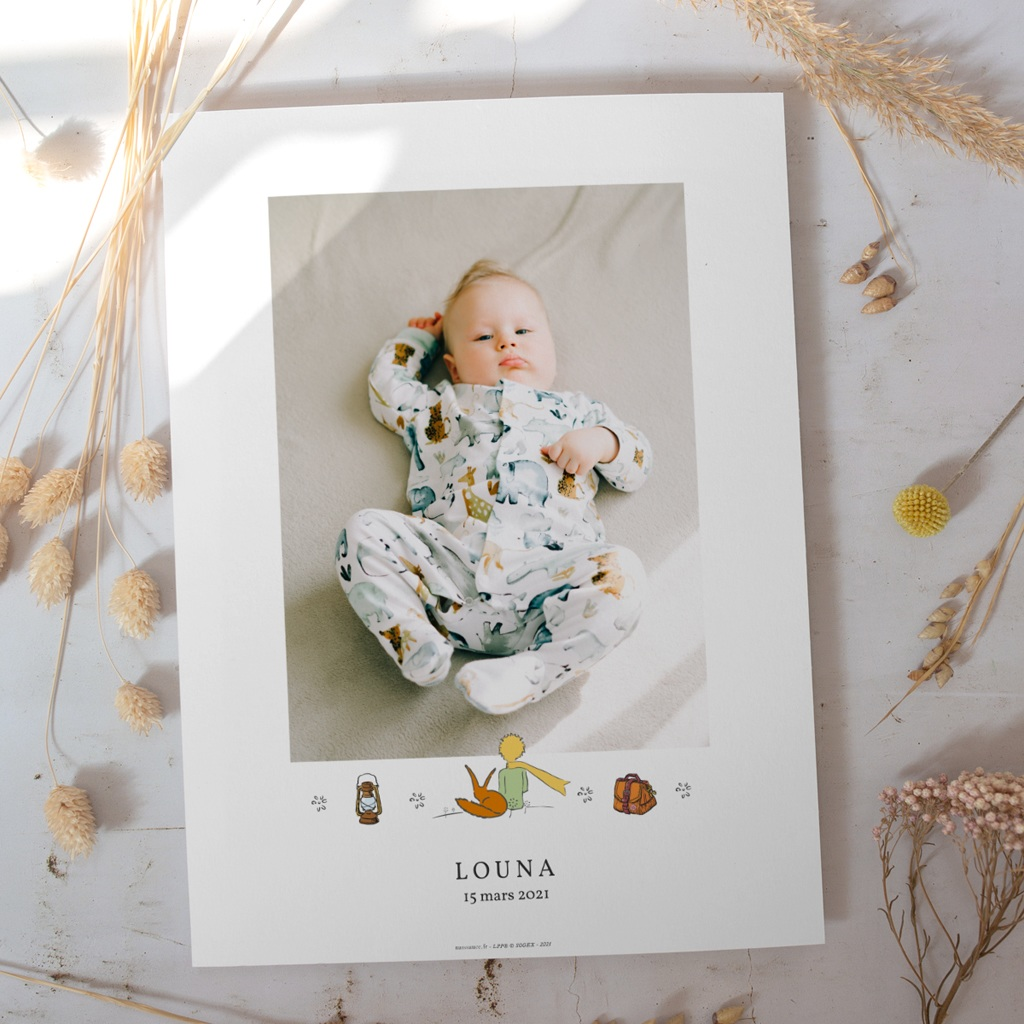 Affiche Déco Chambre Enfant Voyage Petit Prince & Renard gratuit