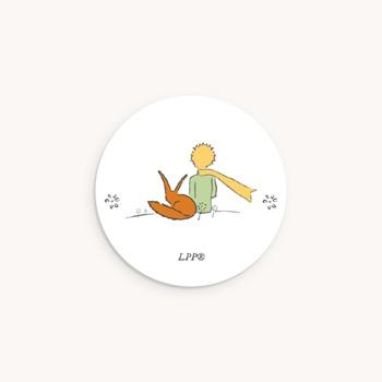 Sticker Enveloppe Naissance Voyage du Petit Prince et renard, 4,5 cm pas cher