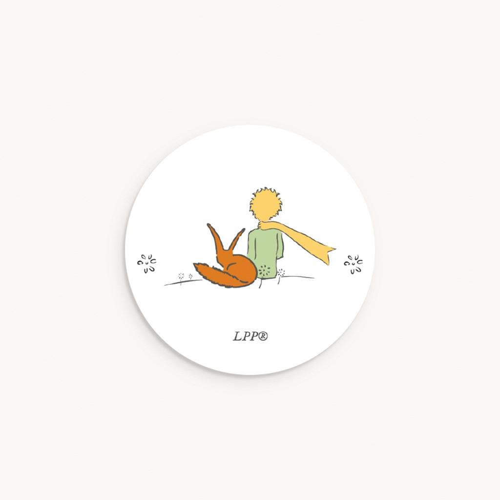 Sticker Enveloppe Naissance Voyage du Petit Prince et renard, 4,5 cm