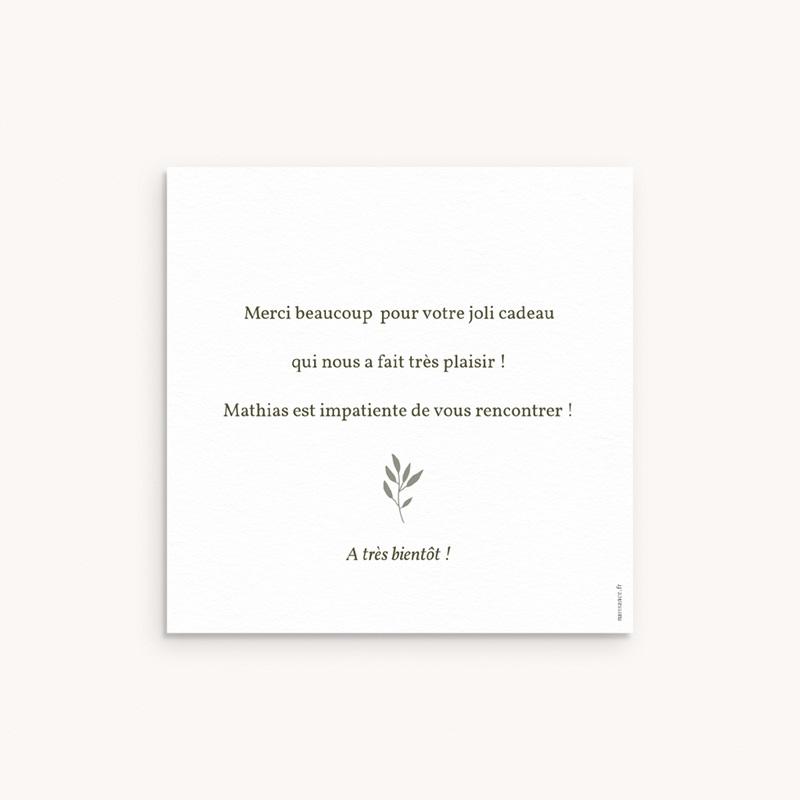 Carte de Remerciement Naissance Couronne exotique, 10 x 10 pas cher