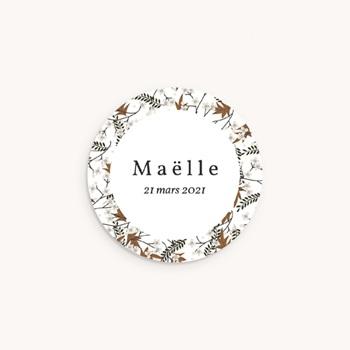 Sticker Enveloppe Naissance Liberty motif cerisier, 4,5 cm pas cher