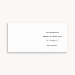 Carte de Remerciement Naissance Liberty cerisier Curry, 9,5 x 9,5 cm pas cher