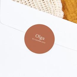Sticker Enveloppe Naissance Tutti Frutti d'automne, sticker terracotta