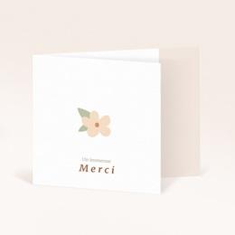 Carte de Remerciement Naissance Suspension Fleurs, pli decalé
