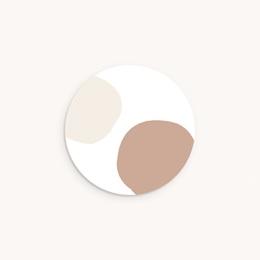 Sticker Enveloppe Naissance Mobile chevaux, 4,5 cm
