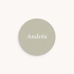 Sticker Enveloppe Naissance Multiphotos Initiale Sauge, 4,5 cm
