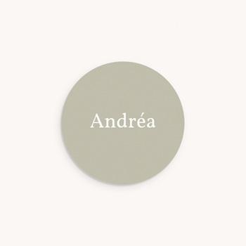 Sticker Enveloppe Naissance Multiphotos Initiale Sauge, 4,5 cm pas cher