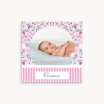 Faire-part de Naissance Liberty Fille original