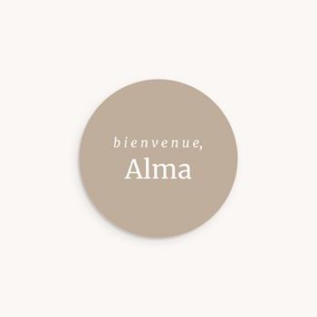 Sticker Enveloppe Naissance Beige rosé, prénom sticker, 4,5 cm pas cher