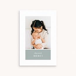 Carte de Remerciement Naissance Multiphoto Gris Bleu