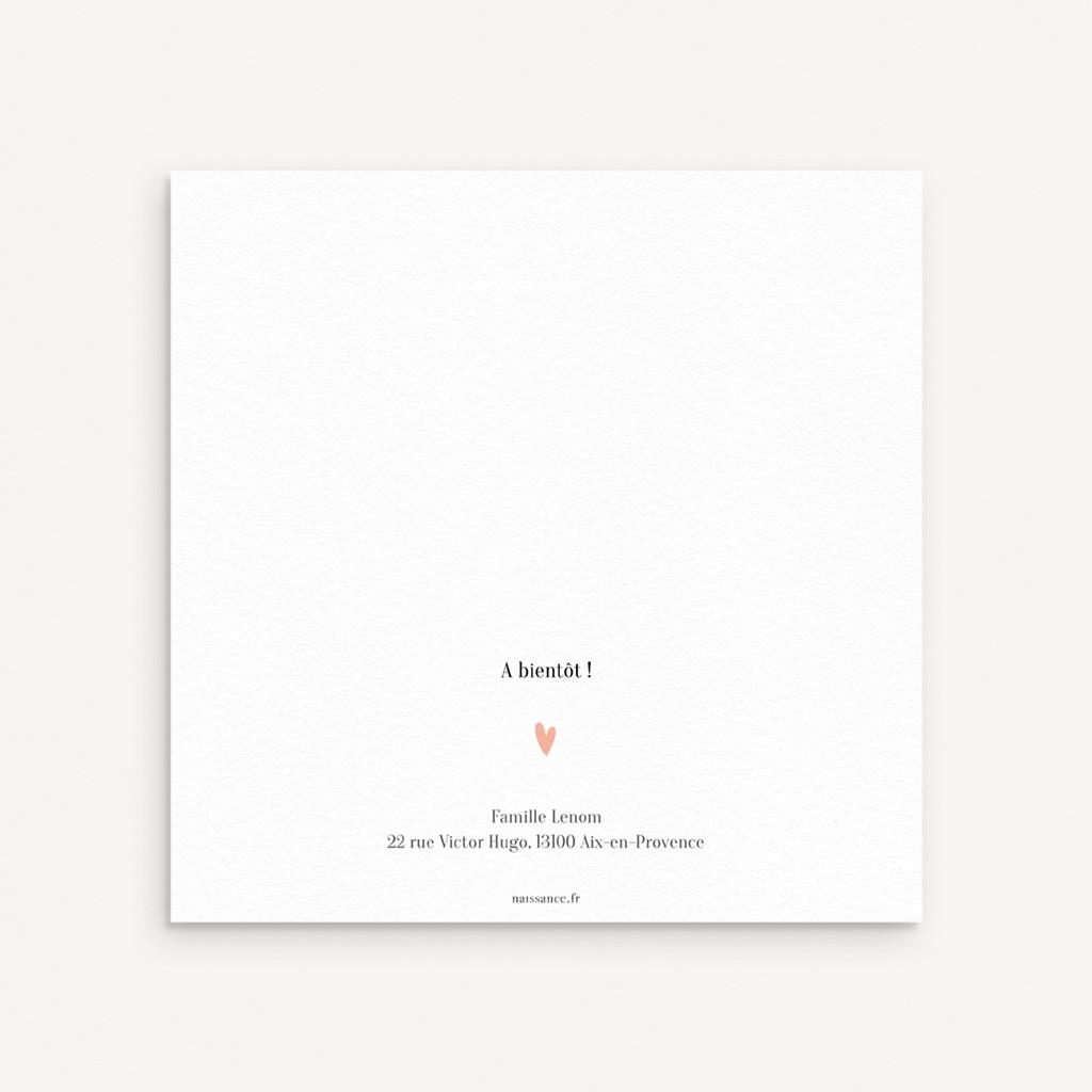 Faire-part de Naissance Multiphotos du bonheur, initiale fond rouge