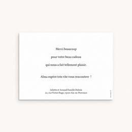 Carte de Remerciement Naissance Bucolique pas cher