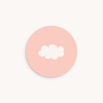Sticker Enveloppe Naissance Septième Ciel Fille personnalisé