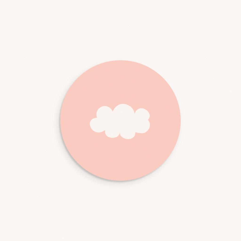 Sticker Enveloppe Naissance Septième Ciel Fille