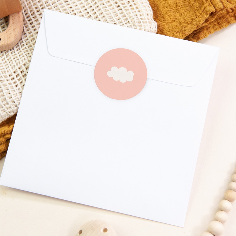 Sticker Enveloppe Naissance Septième Ciel Fille pas cher