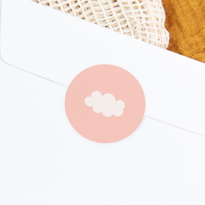 Sticker Enveloppe Naissance Septième Ciel Fille gratuit