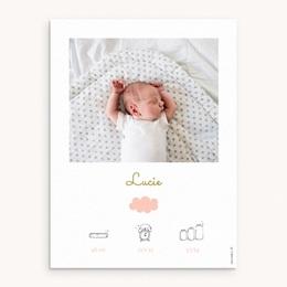 Affiche Déco Chambre Enfant Septième Ciel, Portrait Fille