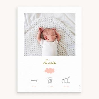 Affiche Déco Chambre Enfant Septième Ciel, Portrait Fille pas cher