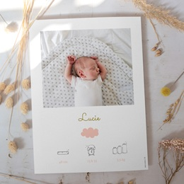 Affiche Déco Chambre Enfant Septième Ciel, Portrait Fille gratuit