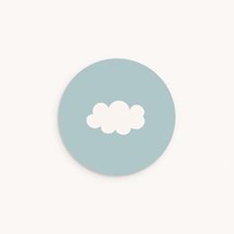 Sticker Enveloppe Naissance Septième Ciel Garçon, nuage