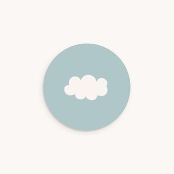 Sticker Enveloppe Naissance Septième Ciel Garçon, nuage pas cher
