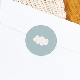 Sticker Enveloppe Naissance Septième Ciel Garçon, nuage gratuit