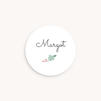Sticker Enveloppe Naissance Bucolique, Fleur bleue pas cher