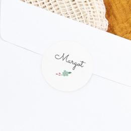 Sticker Enveloppe Naissance Bucolique, Fleur bleue gratuit