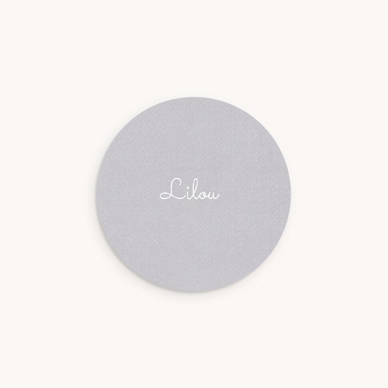 Sticker Enveloppe Naissance Monochrome Lilas, prénom