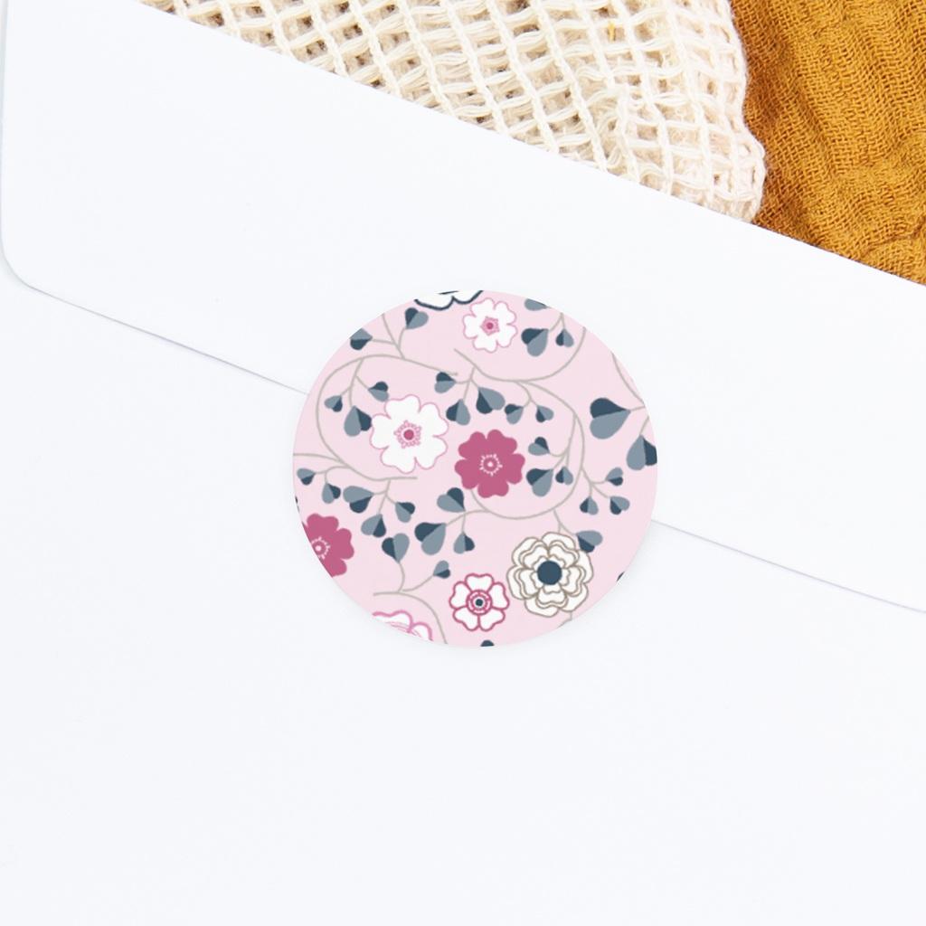 Sticker Enveloppe Naissance Liberty rose fille, Fleurs gratuit