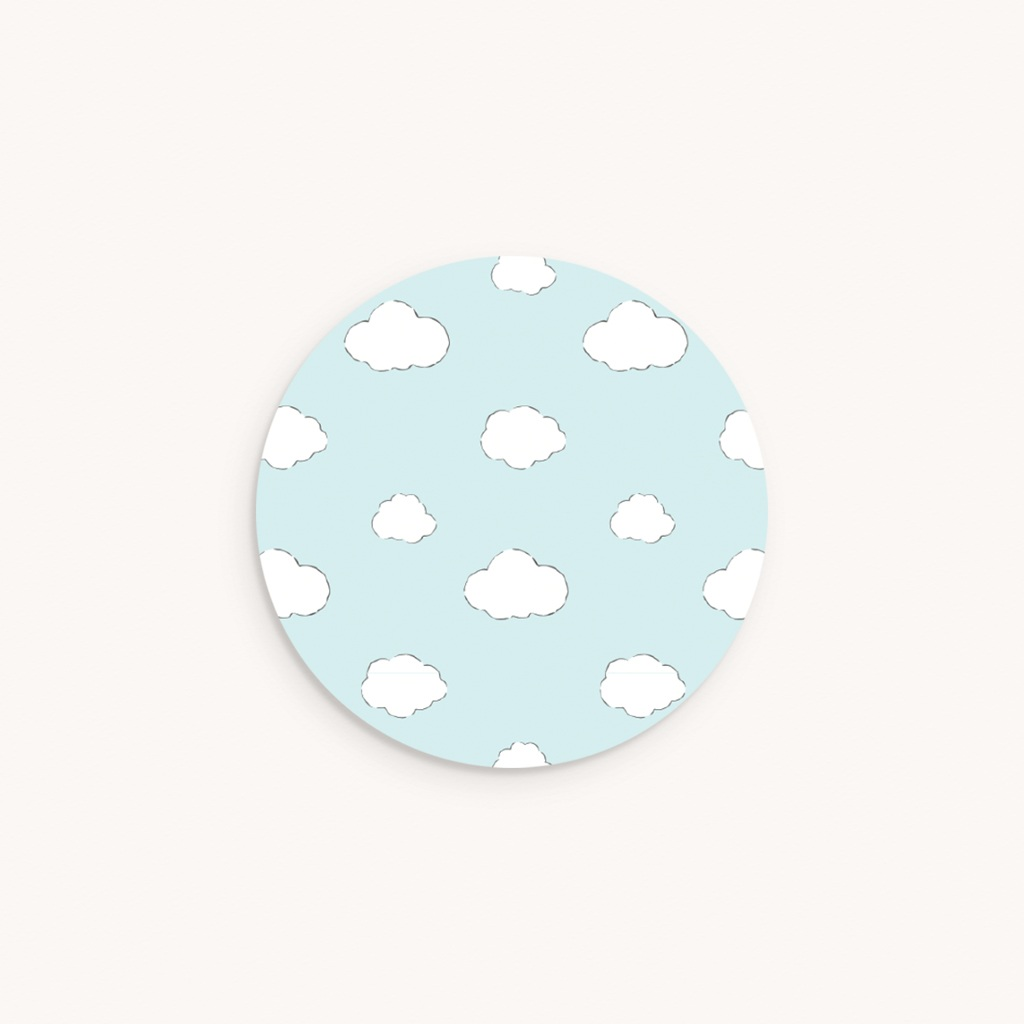 Sticker Enveloppe Naissance L'Aviateur, fond bleu