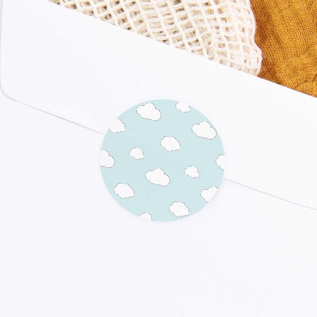 Sticker Enveloppe Naissance L'Aviateur, fond bleu gratuit