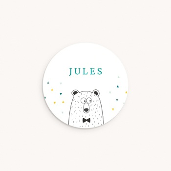 Sticker Enveloppe Naissance Mister Ours
