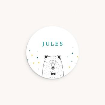 Sticker Enveloppe Naissance Mister Ours pas cher