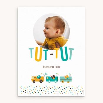 Affiche Déco Chambre Enfant Petits Bolides personnalisé