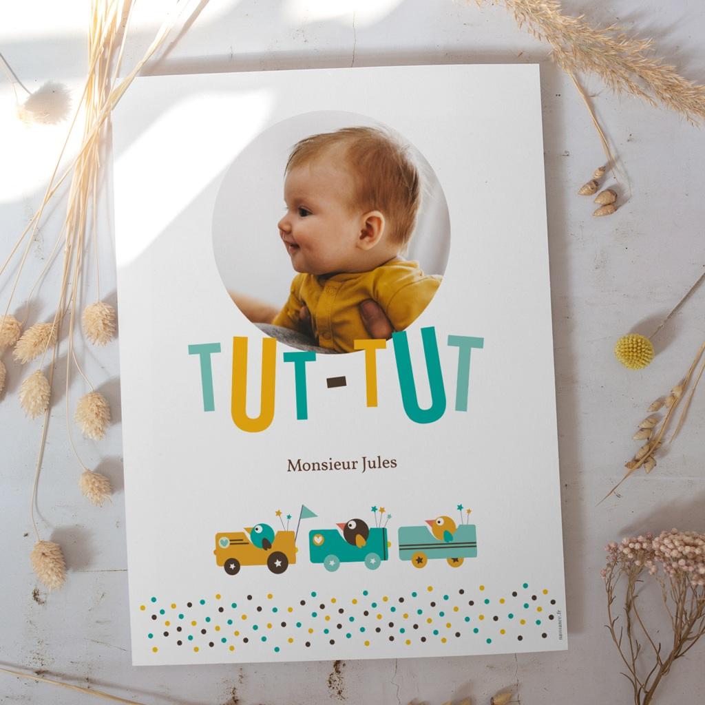 Affiche Déco Chambre Enfant Petits Bolides gratuit