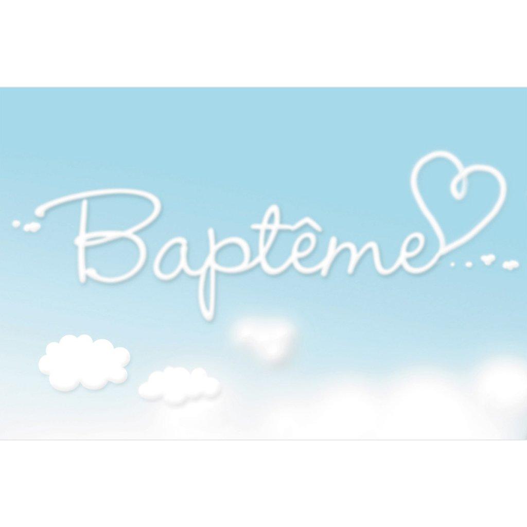 Faire-part de Baptême Ciel Baptême Fille pas cher