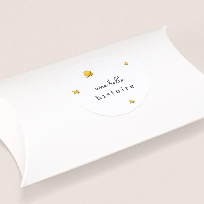 Sticker Enveloppe Naissance La planète du Petit Prince, étoiles